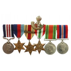 WW2 Battle of Gazala Military Medal Group of Six - L.Cpl. W. Char