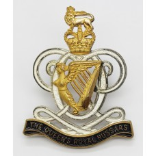 The Queen's Royal Hussars Officer's Cap Badge