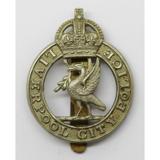 Liverpool City Police Cap Badge - King's Crown