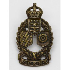 Royal Canadian Electrical & Mechanical Engineers (R.C.E.M.E.) Cap Badge - King's Crown