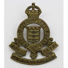 Royal Canadian Ordnance Corps Cap Badge - King's Crown