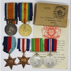 Rollinson Family WW1 and WW2 Casualty Father & Son Medal Group