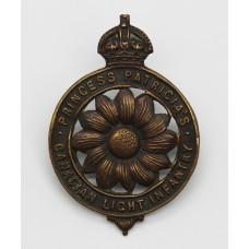 WW1 Princess Patricia's Canadian Light Infantry (P.P.C.L.I.) C.E.F. Cap Badge