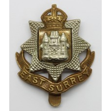 East Surrey Regiment Cap Badge - King's Crown