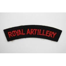 Royal Artillery (ROYAL ARTILLERY) Cloth Shoulder Title