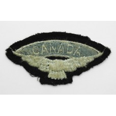 WW2 Royal Air Force R.A.F. (CANADA/Eagle) Cloth Shoulder Title