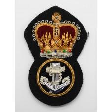 Royal Navy Petty Officer's Bullion Cap Badge - Queen's Crown