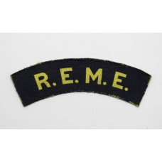 Royal Electrical & Mechanical Engineers (R.E.M.E.) Printed Shoulder Title