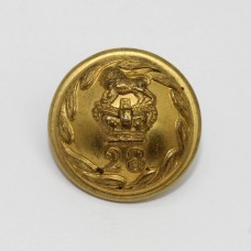 Victorian 28th (North Gloucestershire) Regiment of Foot Officer's Button (Small)