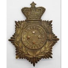 Victorian New Zealand Volunteers General Service Helmet Plate (c.