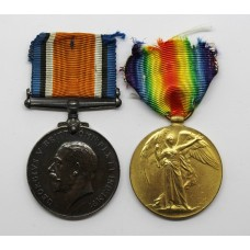 WW1 British War & Victory Medal Pair - Pte. W. Toft, 8th Bn. South Lancashire Regiment - Died of Wounds