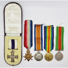 WW1 Military Cross, 2 x MID, 1914-15 Star, British War Medal, Victory Medal & WW2 Defence Medal Group - Capt. W. Hobbs, Bedfordshire Regiment (Formerly 28th Bn. London Regiment)
