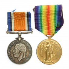 WW1 British War & Victory Medal Pair - Pte. J. Riddell, Royal