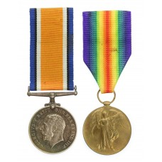 WW1 British War & Victory Medal Pair - Pte. D.R. Colllins, Ro
