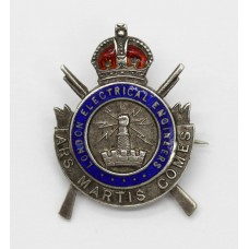 Rare WWI London Electrical Engineers 1915 Hallmarked Silver & Enamel Sweetheart Brooch