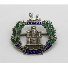 The Essex Regiment Silver & Enamel Sweetheart Brooch