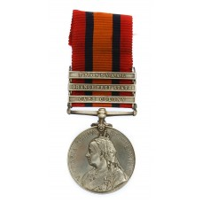 Queen's South Africa Medal (Clasps - Cape Colony, Orange Free State, Transvaal) - Lieut. W.H. Partridge, 49th (Montgomeryshire) Coy., 9th Imperial Yeomanry