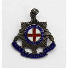 Royal Sussex Regiment Sterling Silver & Enamel Sweetheart Bro