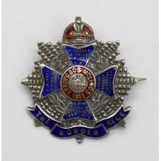 Border Regiment Sterling Silver & Enamel Sweetheart Brooch