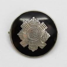 WWI Highland Light Infantry (H.L.I.) 1918 Hallmarked Silver & Tortoiseshell Sweetheart Brooch