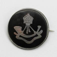 WWI Durham Light Infantry (D.L.I.) 1916 Hallmarked Silver & Tortoiseshell Sweetheart Brooch