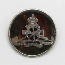 WWI Royal Artillery 1918 Hallmarked Silver & Tortoiseshell Sweetheart Brooch