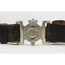 Victorian Portsmouth City Police Leather Belt & Buckle