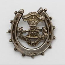WWI Royal Artillery 1916 Hallmarked Silver Horse Shoe Sweetheart Brooch