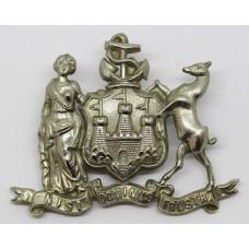 Edinburgh City Police Coat of Arms Helmet Plate