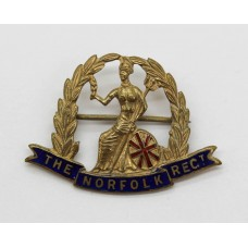Norfolk Regiment Enamelled Sweetheart Brooch