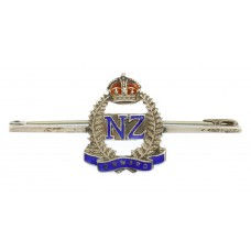New Zealand Expeditionary Force (N.Z.E.F.) Silver & Enamel Sweetheart Brooch