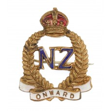 New Zealand Expeditionary Force (N.Z.E.F.) Brass & Enamel Sweetheart Brooch