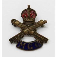 WWI Machine Gun Corps (M.G.C.) Enamelled Sweetheart Brooch