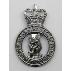 Warwickshire & Coventry Constabulary Cap Badge - Queen's Crow