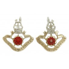 Pair of Loyal Regiment Anodised (Staybrite) Collar Badges