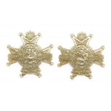 Pair of Sherwood Foresters (Notts & Derby Regiment) Anodised (Staybrite) Collar Badges