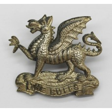 East Kent Regiment (The Buffs) Officer's Silver Plated Cap Badge