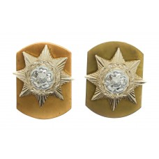 Pair of Prince of Wales's Own Regiment of Yorkshire Anodised (Staybrite) Collar Badges