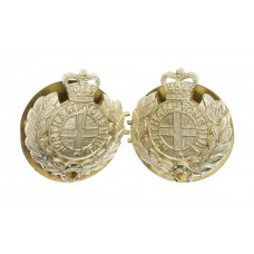 Pair of Northamptonshire Regiment Anodised (Staybrite) Collar Badges