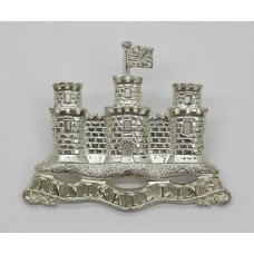 Royal Inniskilling Fusiliers Silver Plated Piper's Cap Badge