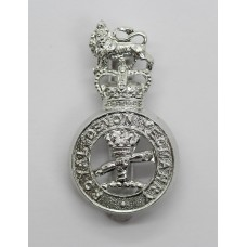 Royal Devon Yeomanry Anodised (Staybrite) Cap Badge - Queen's Crown