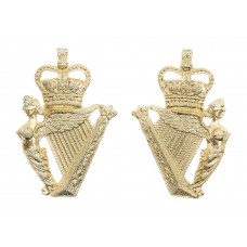 Pair of Ulster Defence Regiment Anodised (Staybrite) Collar Badges