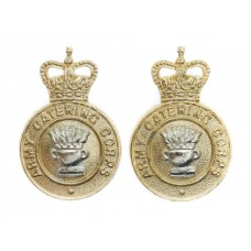Pair of Army Catering Corps Anodised (Staybrite) Collar Badges