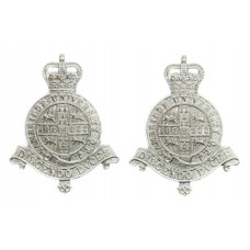 Pair of Cambridge University O.T.C.  Anodised (Staybrite) Collar Badges