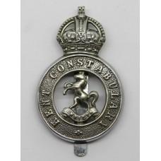 Kent Constabulary Cap Badge - King's Crown