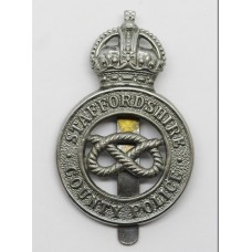 Staffordshire County Police Cap Badge - King's Crown