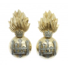 Pair of Royal Highland Fusiliers Anodised (Staybrite) Collar Badges