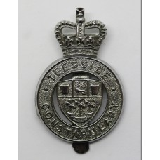 Teesside Constabulary Cap Badge - Queen's Crown