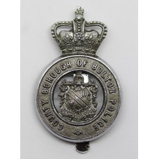 County Borough of Bolton Police Cap Badge - Queen's Crown