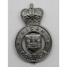 Wigan Borough Police Cap Badge - Queen's Crown
